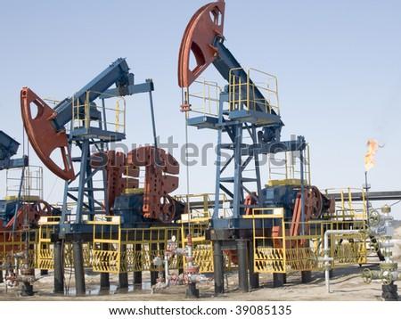 Work of oil industry in Siberia
