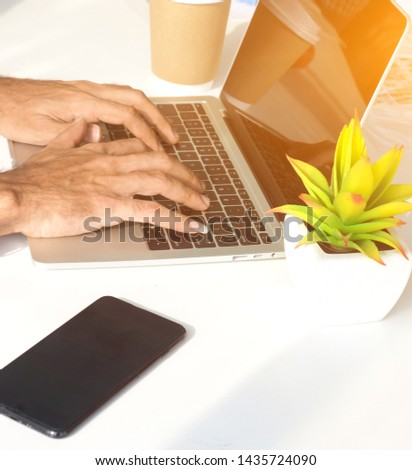 Work place. Work at home. Working online. Online business concept.