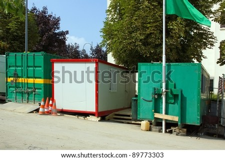 work-site cabins: cloakroom and storage of equipment