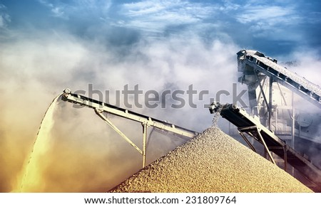 Work site industrial background