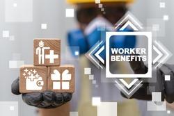 Worker Benefits Industry Concept. Employee Benefit Industrial Career Bonus Motivation to Success.