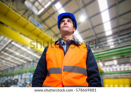 Worker in a industrial site