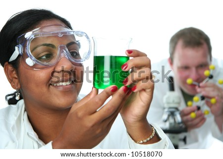 Worker in a lab