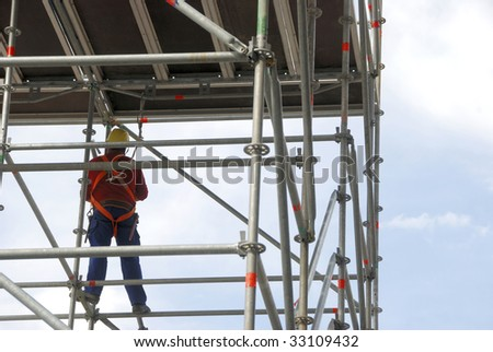 worker on a scaffold
