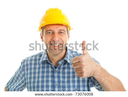 Worker wearing hard hat