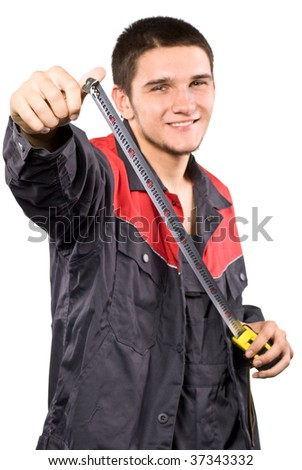 Worker with roulette