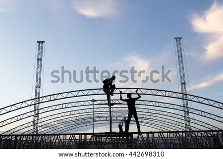 workers building construction #442698310