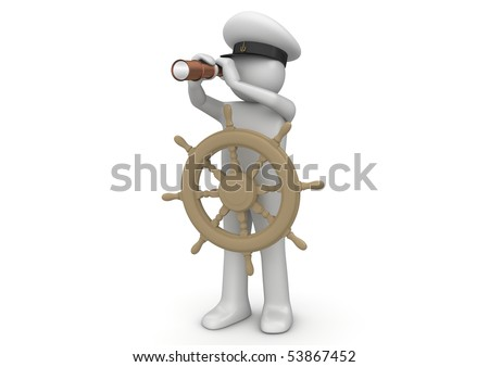 Workers collection - Captain with telescope