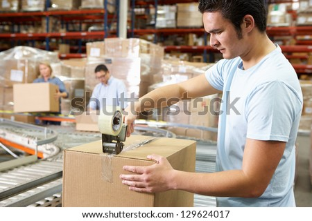 Workers In Distribution Warehouse