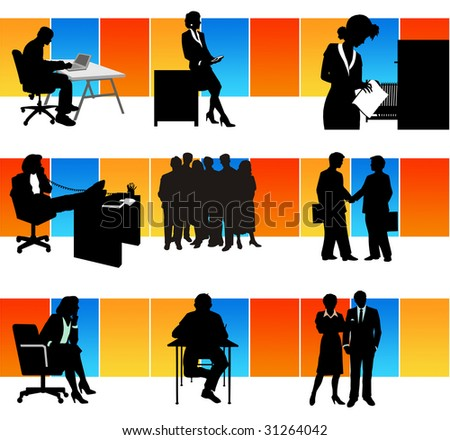 workers in the office