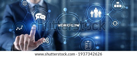 Workflow Repeatability Systematization Buisness Process. Business Technology Internet Stock photo ©