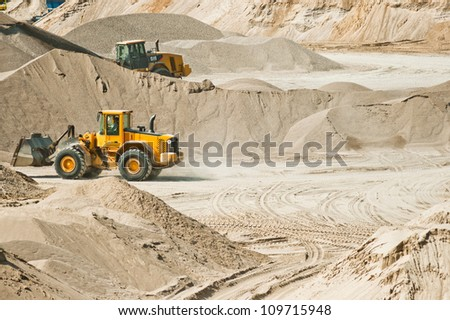 Working at gravel plant