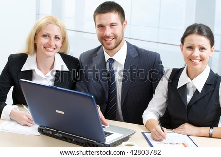 Working business team