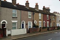 Working class neighborhood. Sandy Hill Road, Woolwich Arsenal in London, UK.