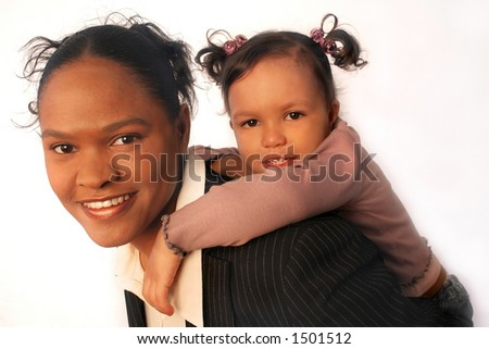 Working Family - mother and daughter team, full profile