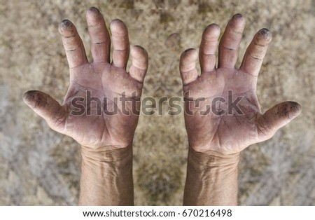 working hands isolated  #670216498