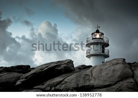 working lighthouse at northern...
