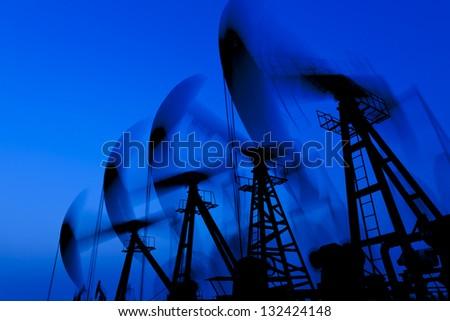 working oil pump silhouette