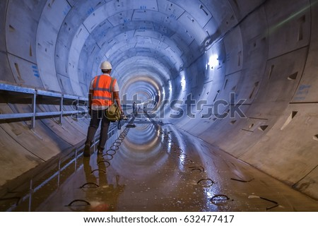 Working on the tunnel - Shutterstock ID 632477417