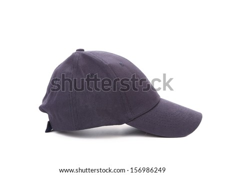 Working peaked cap. Side view. Isolated on a white background.
