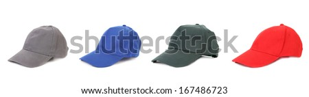 Working peaked caps. Isolated on a white background.