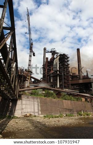 working steel blast furnace in europe factory