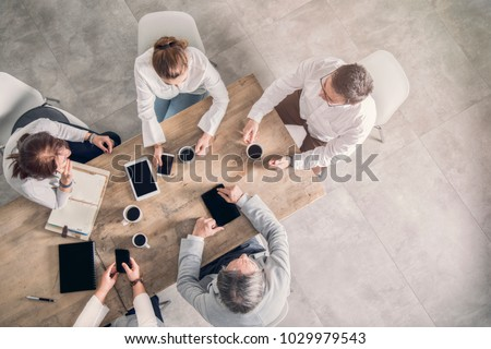 Working table, business meeting