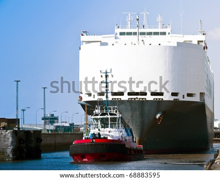 working tug - stock photo
