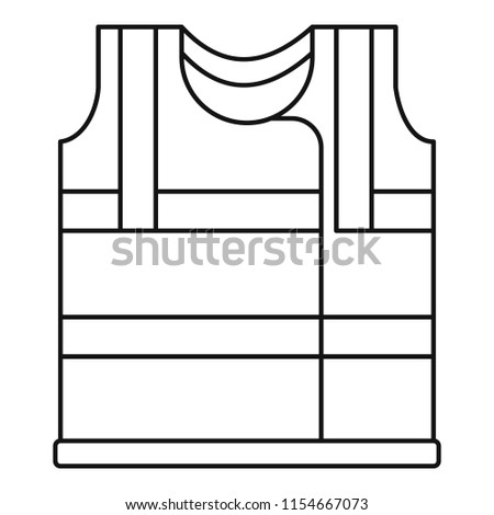 Working vest icon. Outline illustration of working vest icon for web design isolated on white background