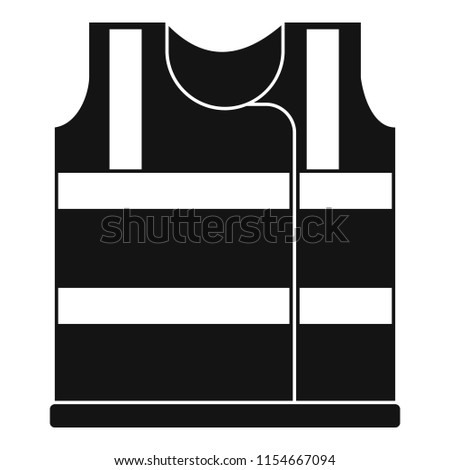 Working vest icon. Simple illustration of working vest icon for web design isolated on white background