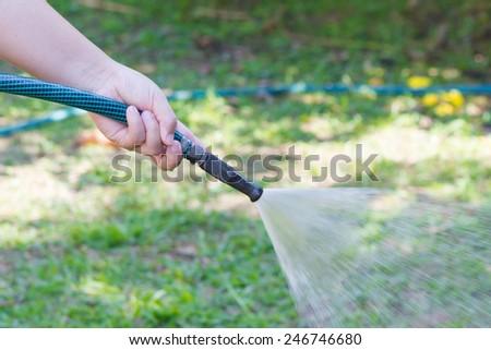 Working watering garden from hose #246746680