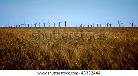 working windmill in the middle of the field