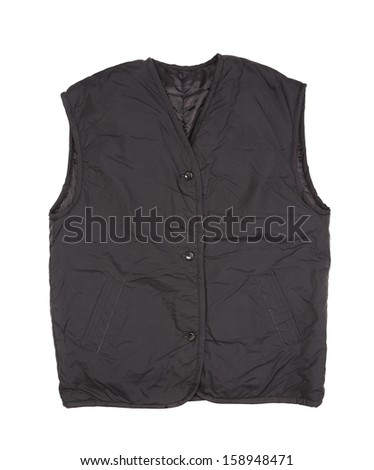 Working winter vest. Isolated on white background.