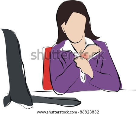working woman with wrist pain
