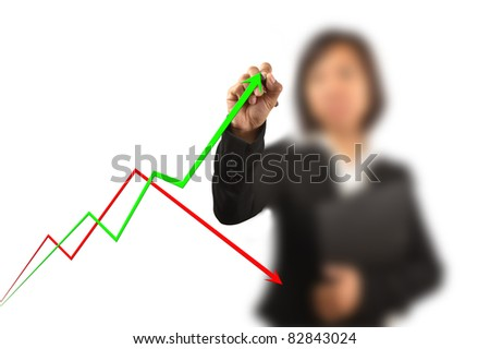 working women write a business graph