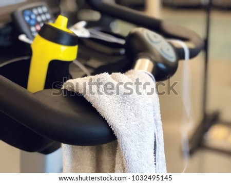 Workout Towel And Equipment #1032495145