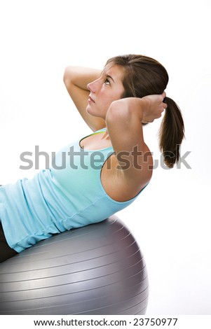 workout with a ball
