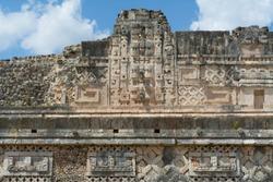 Works of the ruins of Uxmal in Merida Yucatan.