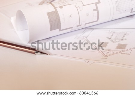 Workshop architect. Sketches, architectural drawings.