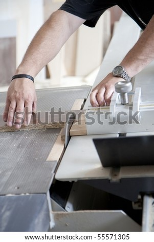 Workshop of a cabinmaker - working with wood