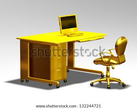 workstation, golden office furniture