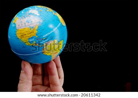 World at My Fingertips - stock photo