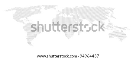 World, atlas dot map - stock photo
