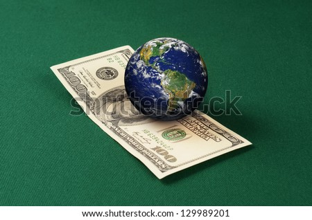 World billiard bet. Elements of this image furnished by NASA.