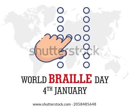 World Braille Day banner design.
