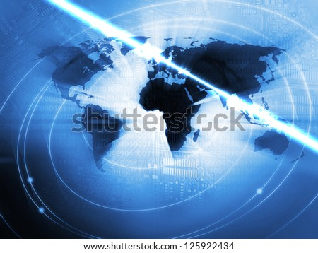 World Business Background in blue