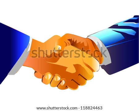 world business shake hand business