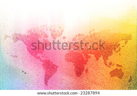 world bussiness colored background - stock photo