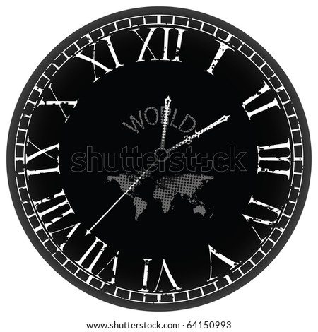 world clock against white background, abstract art illustration; for vector format please visit my gallery - stock photo