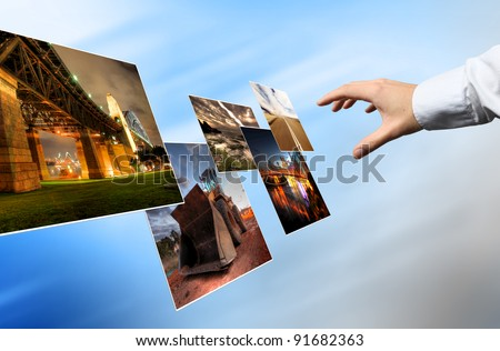 World cloud technology, Background concept - stock photo